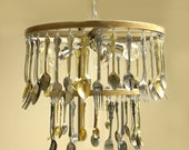 Custom  Made to order Silverware Chandelier reserved for Victoria