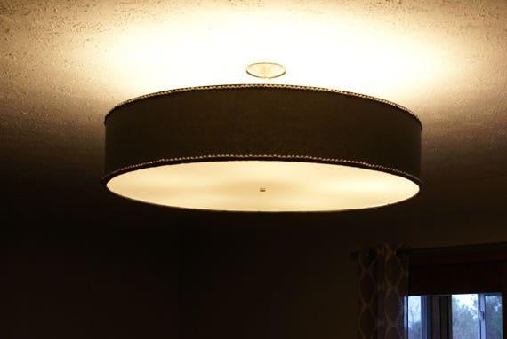 Custom 36 Inch Large Drum Pendant Light Fixture