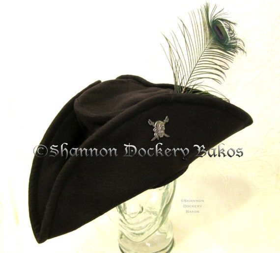Pirate Felt With Skull /& Feather Pirate Hats Caps /& Headwear For Fancy Dress