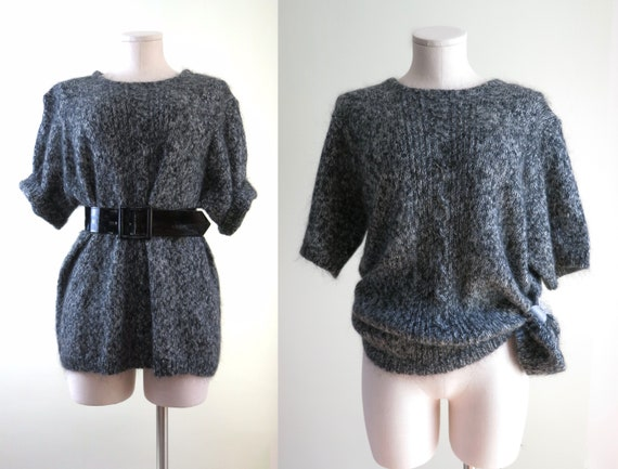 80s Mohair Sweater XL | 1980s Maggie Lawrence Moha