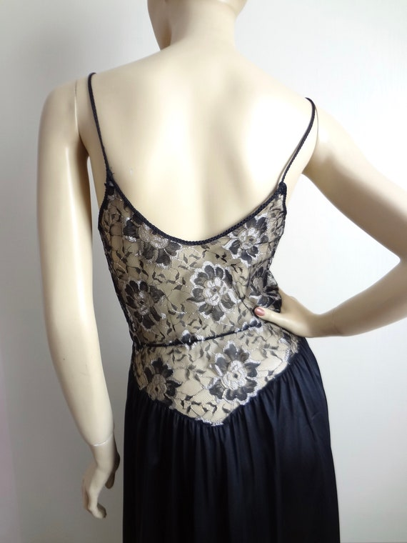 Vintage 80s Lace Bodice Nightgown | Lace Nightie … - image 6