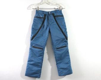 80s Blue Parachute Pants