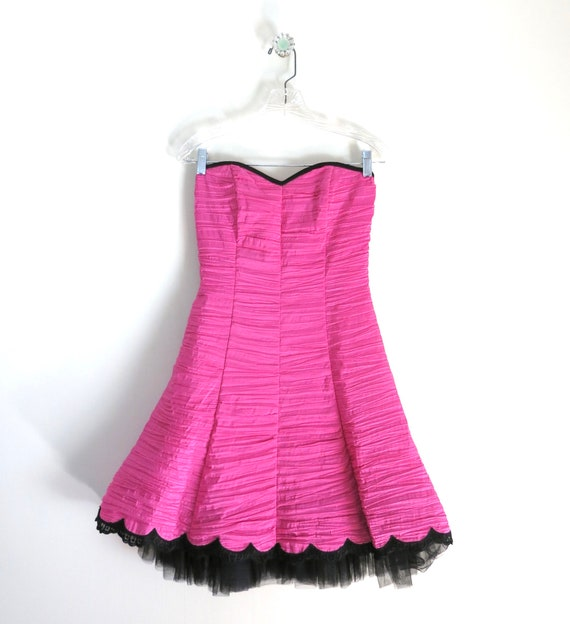 Vintage 90s GUNNE SAX Pink Party Dress XS - image 2
