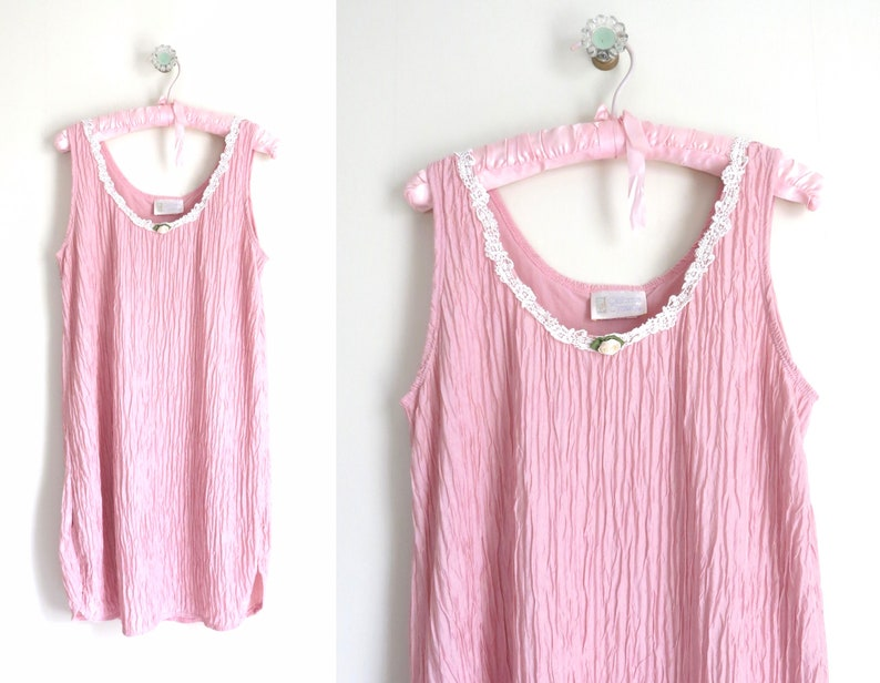 Pink Nightie S  1980s California Dynasty Pink Nightie image 0