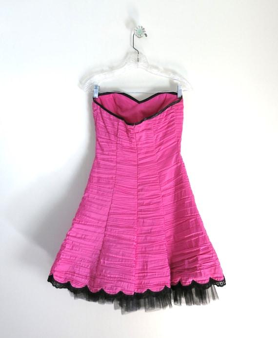 Vintage 90s GUNNE SAX Pink Party Dress XS - image 8