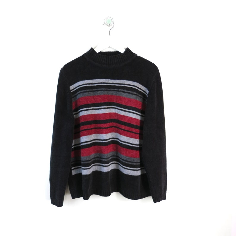 Vintage 80s Alfred Dunner Striped Pullover L image 0