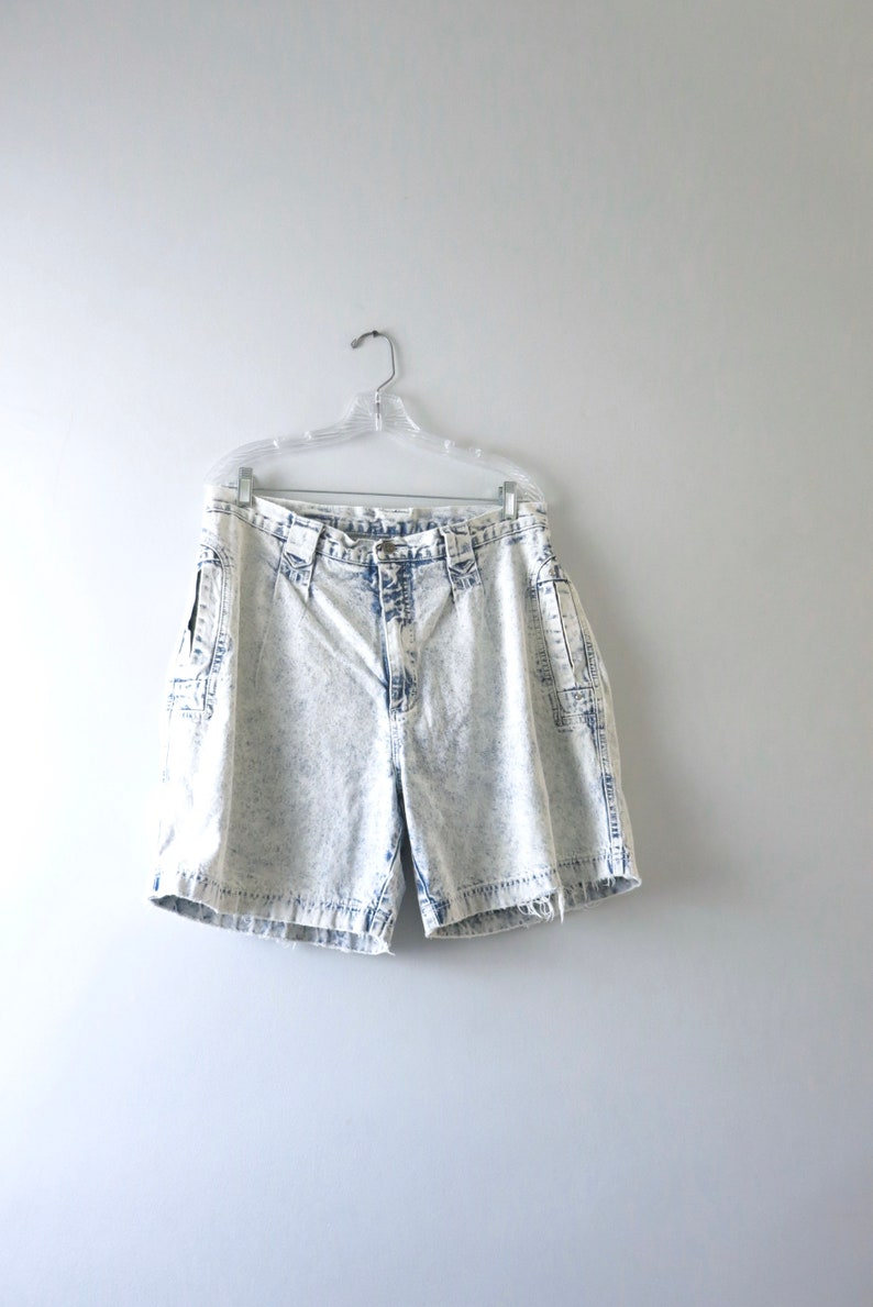 Vintage 90s Acid Wash Shorts XL  1990s Lee Airgear Denim image 0