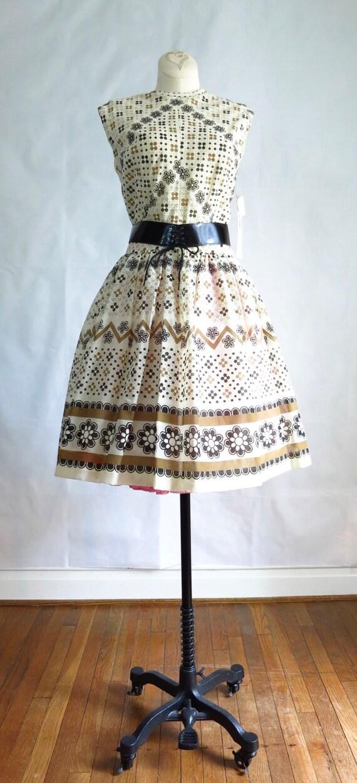 Vintage 60s Summer Day Dress M Deadstock - image 2