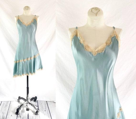 Victoria's Secret Silk Charmeuse Angled Slip Dress
