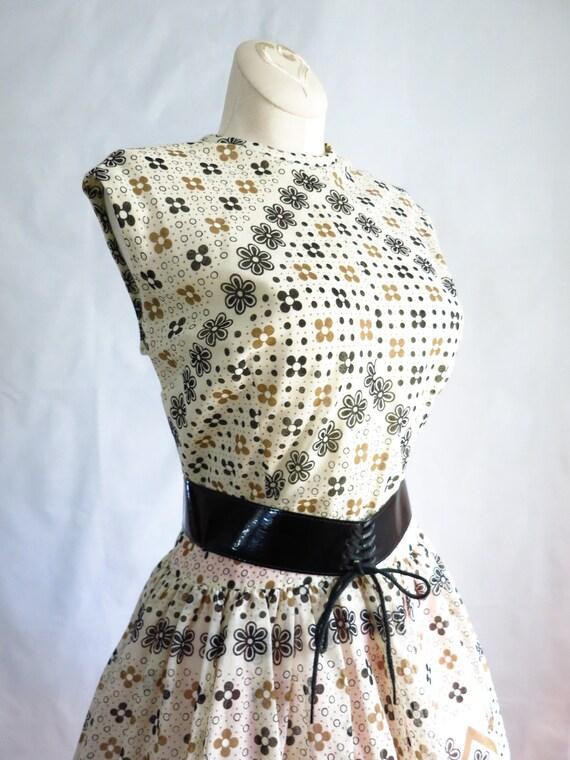 Vintage 60s Summer Day Dress M Deadstock - image 6
