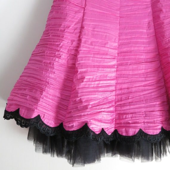 Vintage 90s GUNNE SAX Pink Party Dress XS - image 7