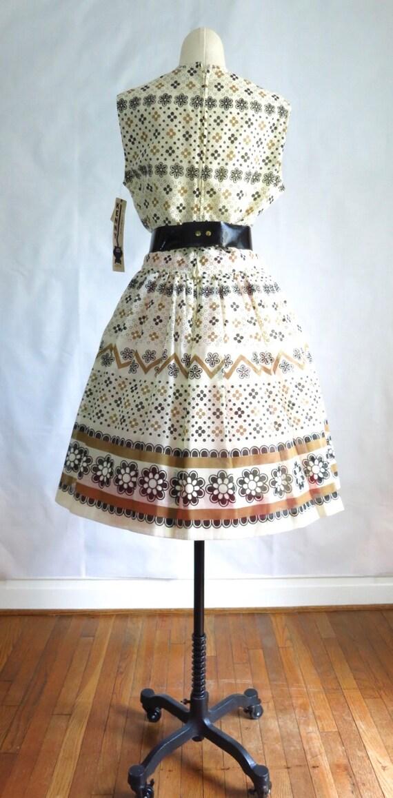 Vintage 60s Summer Day Dress M Deadstock - image 8