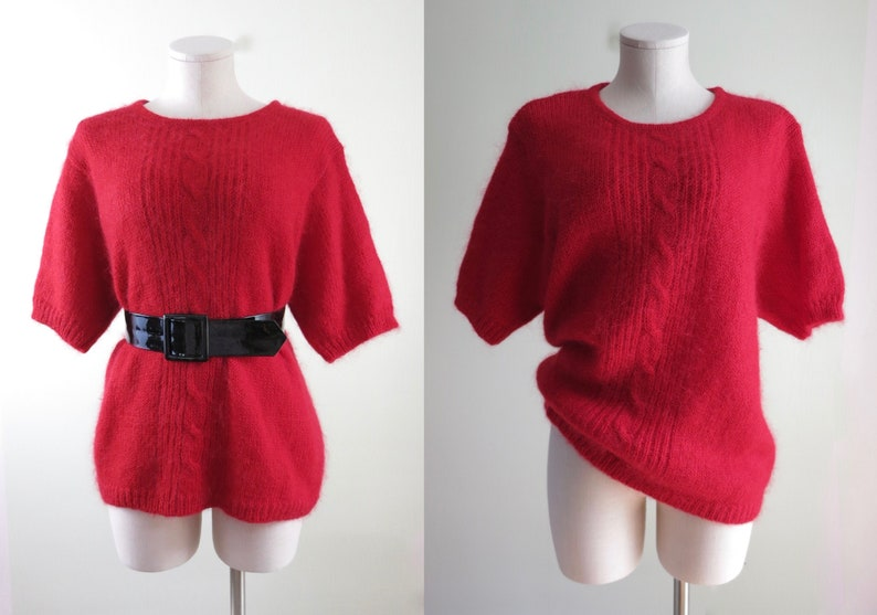 80s Mohair Sweater XL  1980s Maggie Lawrence Mohair Sweater image 0