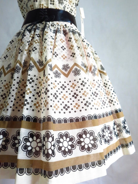 Vintage 60s Summer Day Dress M Deadstock - image 4