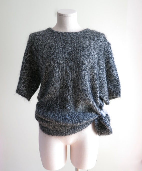 80s Mohair Sweater XL | 1980s Maggie Lawrence Moh… - image 4