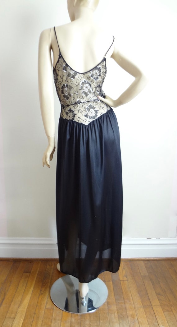 Vintage 80s Lace Bodice Nightgown | Lace Nightie … - image 7