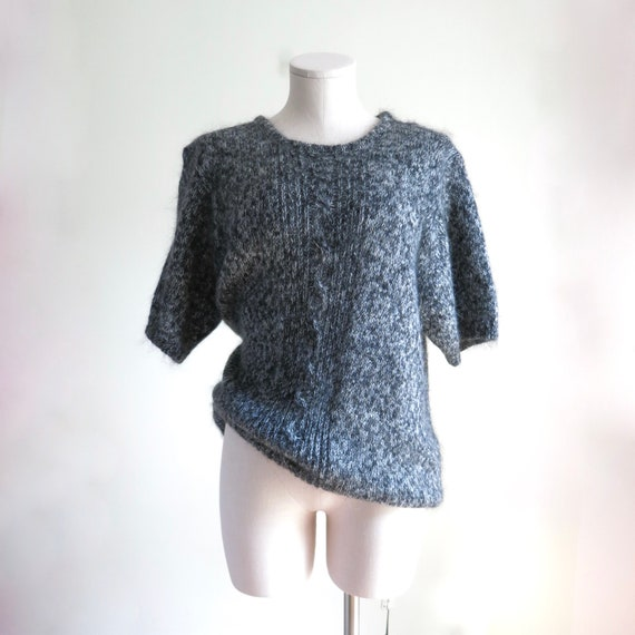 80s Mohair Sweater XL | 1980s Maggie Lawrence Moh… - image 2