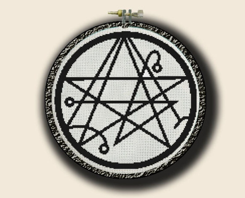 Necronomicon symbol - Cthulhu elder gods lovecraft lovecraftian ancient  evil - pdf cross stitch chart pattern - -INSTANT DOWNLOAD