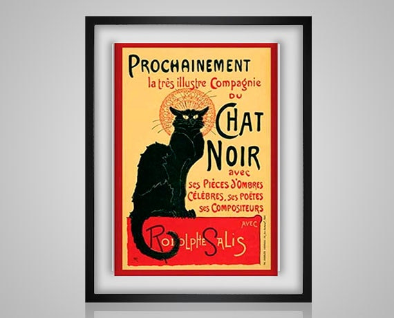 Le Chat Noir Art Nouveau French The Black Cat Bohemian Advertisment Painting Famous Pdf Cross Stitch Pattern Instant Download