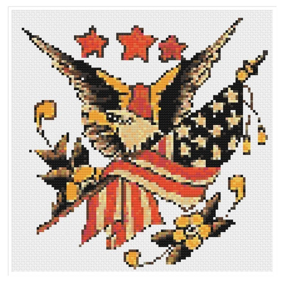 Eagle of Promise Color Symbols Charts Counted Cross Stitch Patterns