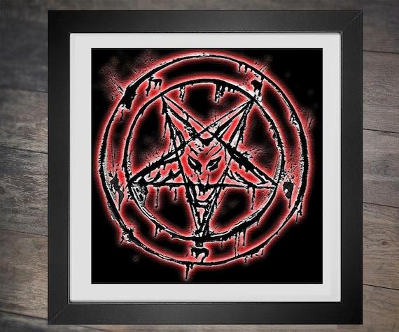 Cross Stitch Pattern Baphomat Goat Head Pentagram Evil Occult Etsy