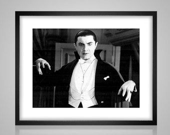 Bella Lugosi - dracula black and white - cross stitch pattern - instant PDF download