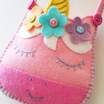 Felt Toy Unicorn Sewing Pattern - Pouch - Bag - Purse - PDF ePATTERN - e pattern Tutorial