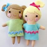 The Janey Doll Felt Softie Sewing Pattern - Tutorial - PDF ePATTERN