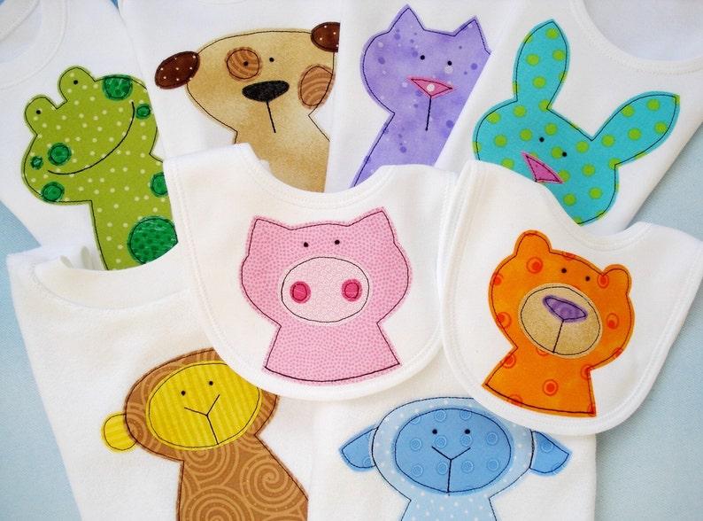Applique sewing pattern eight animal applique designs pdf etsy