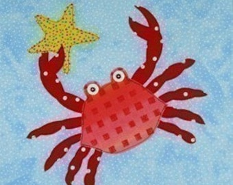 SALE - PDF e-Pattern Sea Creature Appliques Sewing Pattern