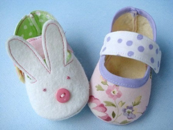 Bunny And Plain Baby Shoes Booties Sewing Pattern Sewing Etsy