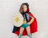 Amazon Warrior Set, Shield, Cuffs + Belt, Gift for Girl, Wonder Woman, Powerful Girl, Modern Girl, Strong Girl, Women's Movement, Supergirl