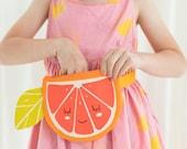 Children's Fanny Pack, Toddler to Teen, Belted Waist Bag, Citrus Orange Motif