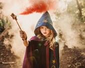 Wizard Costume - Magician Cloak - Magic Wizard Cape - Sorcerer Costume - Fortune Teller Cape