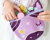 Purple Unicorn Belt Bag, Toddler to Tween Fanny Pack, Belted Waist Bag