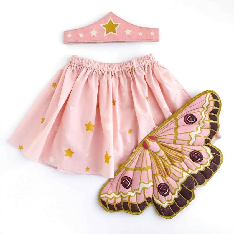 5ba94da9a9aa Butterfly Fairy Gift Set Wings Tiara Skirt Faerie Wings