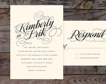 barn wedding invitations, invitation suite, rustic invitation, formal invitation, wedding invite, modern wedding invitation, black and white