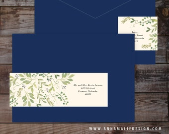 Wrap around label, address label, guest addressed label, wedding address label, watercolor label, floral label, mailing label, downloadable