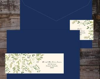Address Label Wrap Around Labels Floral Wedding Invitations Return Guest Addressing