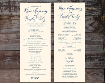 printable wedding programs wedding ceremony programs etsy