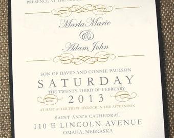 Vintage wedding invitations, gold wedding invitations, romantic wedding invitations, elegant wedding invitation, timeless wedding invitation