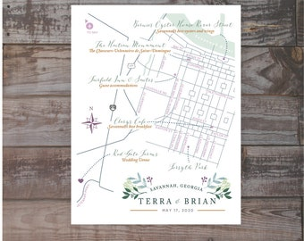 illustrated map, hand-drawn map, Wedding invitation map, Event map, Guest map, Driving Directions,  wedding ceremony map, wedding maps