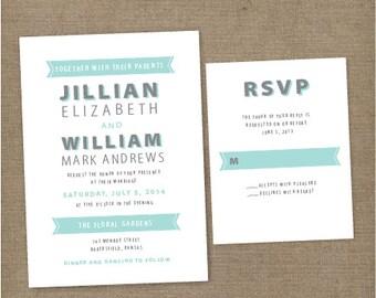 Wedding Invitations, vintage wedding invitations, formal wedding invitations, timeless wedding invitations, modern wedding invitations