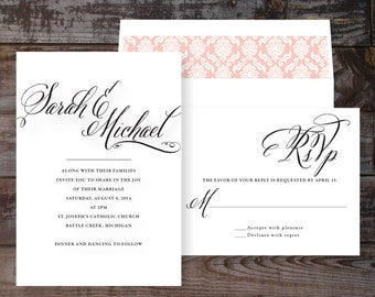Elegant Invitations, Handmade Wedding Invitations, Calligraphy Wedding Invitations, Luxury Wedding Invitations, Elegant Wedding Invitations