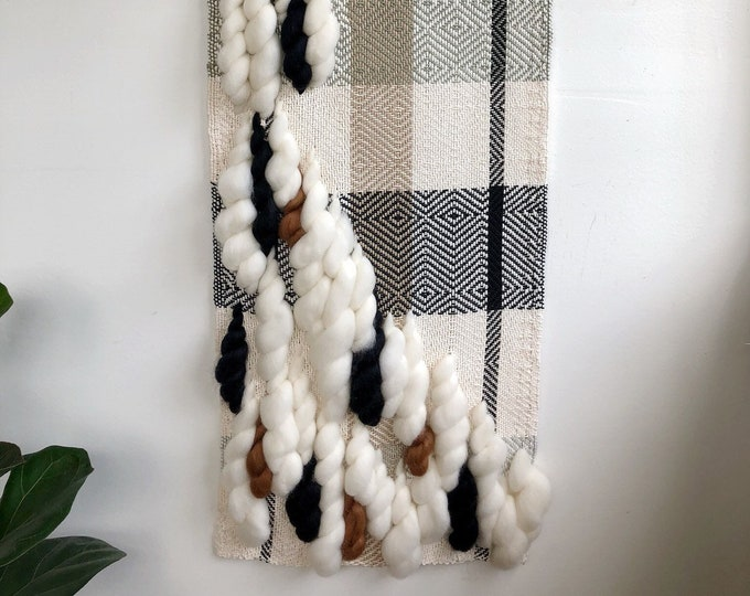 Clean and Cozy Hand Woven Wall Hanging