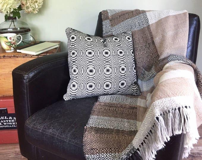 Handwoven Alpaca Blanket #3