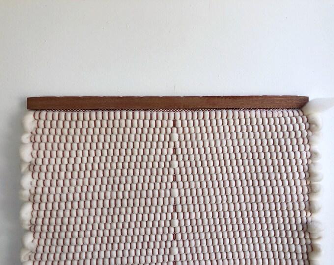 Wool Popcorn Diamond Woven Banner
