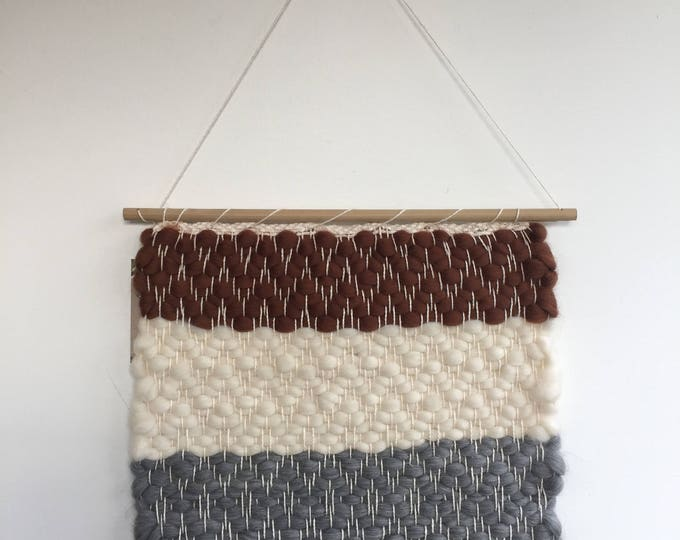 Striped Diamond Woven Wall Hanging