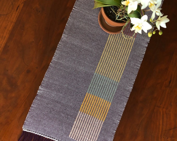 Woven (Eggplant) Stretch Colors Table Topper