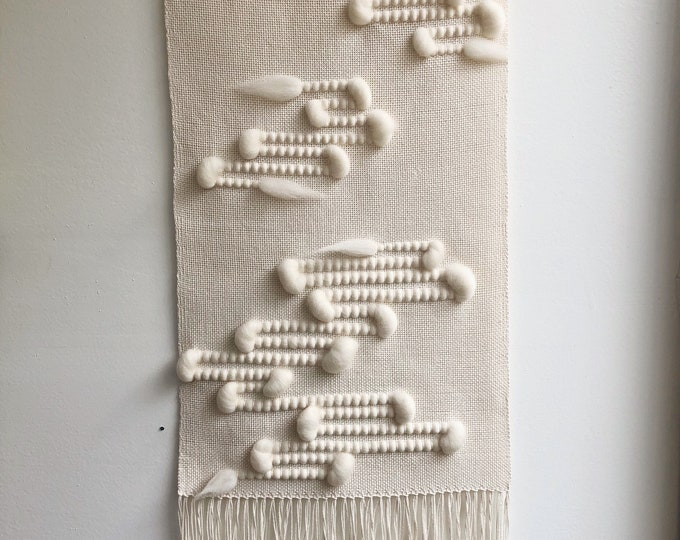 Natural Meandering Thoughts Woven Wall Hanging